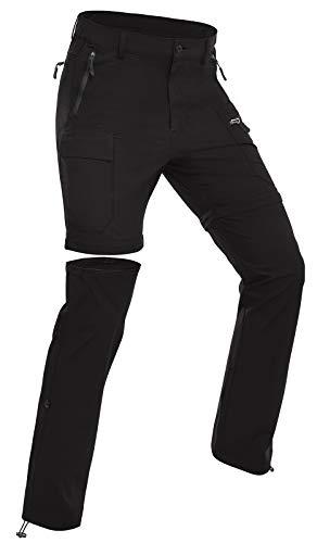 Wespornow Pantaloni da Trekking con Zip da Donna Pantaloni da Trekking Staccabili, Pantaloni da Esterno Traspiranti Funzionali Estivi ad Asciugatura Rapida con 5 Tasche (Nero, M)