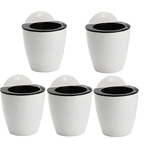 Ohomr 5 STKS Opknoping Zelf Watering Plant Pot, Muur Planter, Plastic Luie Bloempot met 5 Haken voor Indoor Sappige Plant