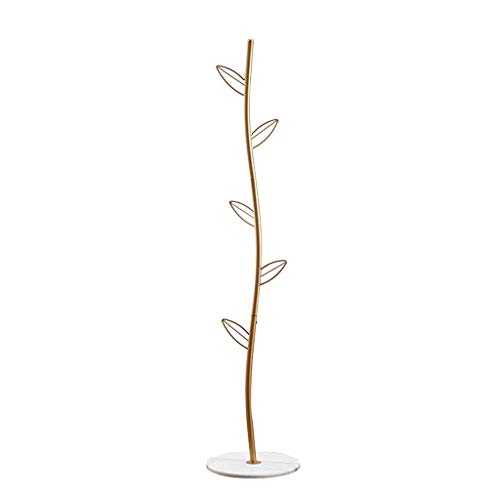 QIFFIY Perchero de metal para colgar abrigos, con forma de árbol, con 5 ganchos para la ropa, colgador de árbol para la entrada, perchero para pasillo de madera (color: B)