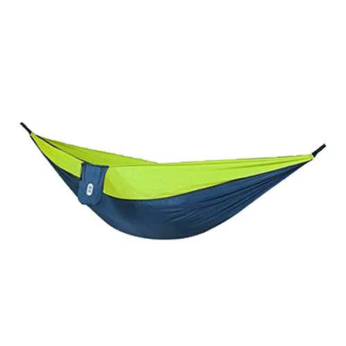 LHY Hamaca de jardín para Acampar, Hamaca portátil, Acampar al Aire Libre, Jardines y Viajes, Carga máxima de 300 kg,Verde