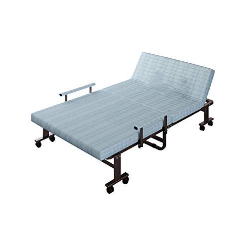 SUWEN Cama Plegable de Invitado,colchón portátil, para Adultos con Lujoso colchón de Espuma con Memoria de 2,7 Pulgadas y Estructura súper Resistente, 190X70 / 80 / 90CM