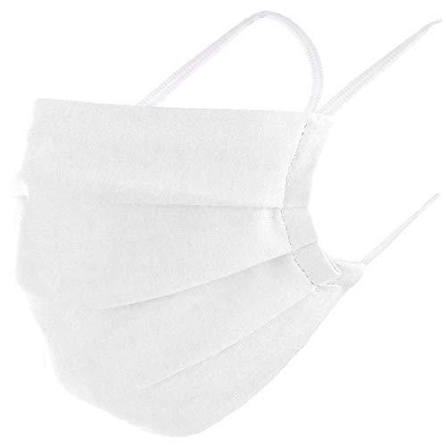 VOID Community Maske Mundbedeckung 100% Baumwolle Öko-Tex Herren Damen Kinder Gesichtsmaske Nase Mund Abdeckung, Farbe:Weiß, Masken Größe:Erwachsene
