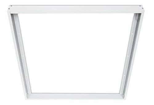 Trango LED Panel Rahmen 62x62cm Anbaurahmen TG6001RA I Aufputzrahmen I Wandrahmen I weiße Aluminium Rahmen - Rahmen für LED Panel