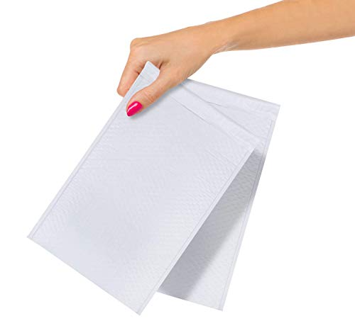 ABC Pack of 25 White Poly Bubble Mailers 5x9. Peel and Seal Bubble Padded Envelopes. Padded Mailer Envelopes 5 x 9, Shipping Bags for Mailing, Packing, Packaging in Bulk. Wholesale Price.