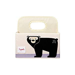 3 Sprouts Baby Diaper Caddy – Organizer Basket for Nursery, Bear