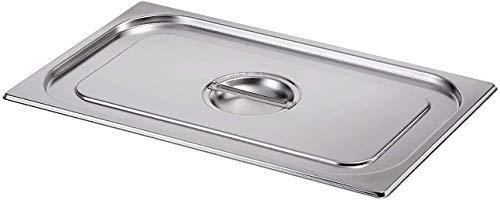 Gastro-Bedarf-Gutheil GN-Deckel ohne Löffelaussp. 1/2 GN Edelstahl geeignet GN Behälter 1/2
