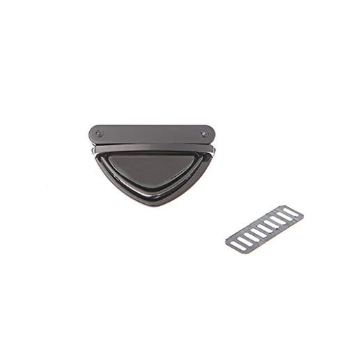 ZZALLL Triangle Shape Verschluss Turn Lock Twist Locks für Handtasche Umhängetasche Geldbörse - Dunkel