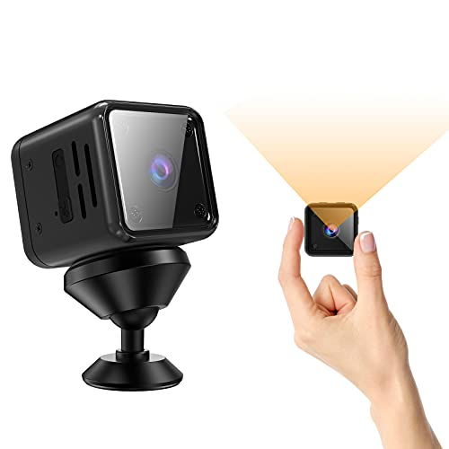 Mini Kamera, 1080P Ultra HD Überwachungskamera mit Bewegungserkennung und Nachtsicht, Lange Batterielaufzeit Videoanrufkamera Nanny Sicherheitskamera für Innen Aussen
