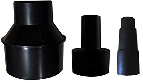 Dust Collection Cone Reducer 4-Inch to 2 1/2-Inch plus Shop Vac Adapter and Versatile Rubber Adapter