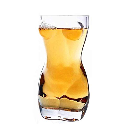 Body Art Glass Beer Cup, único vaso de vidrio estereoscópico 3d Whisky Shot Glass Vodka Creative Wine Copas Set - 400ml mujer