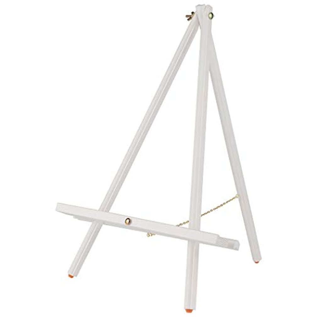 Tabletop Painting Easel Thrifty Table Easel Compact Easy Carry Art Easel Rubber Foot Pads Hold & Display Canvas, Panels, Signs, Photographs, Chalk Boards, White Boards - White - Single Easel