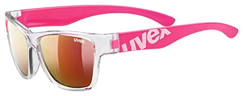 uvex Unisex Jugend, sportstyle 508 Sonnenbrille, clear pink/red, one size