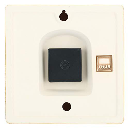THUN ® - Orologio da Parete Unisex con Coniglietto, Ape e Farfalla - Ceramica - h 20,75 x 20,66 h cm