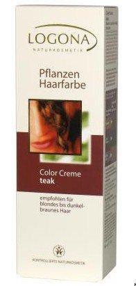 Logona Crème de couleur des cheveux color plantes–Teck 150ml