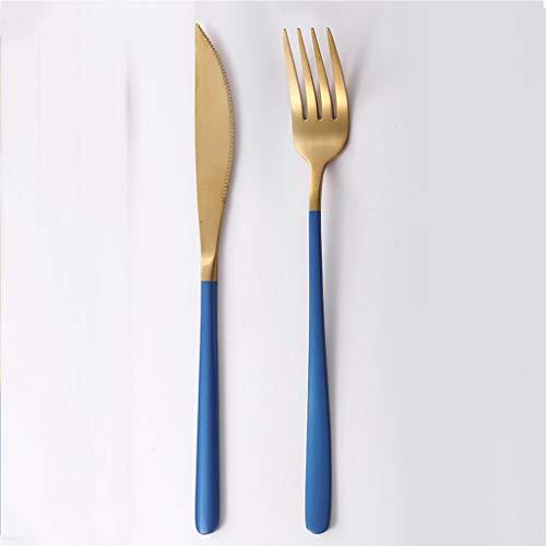 Edelstahl-Steak-Messer und Gabel-Set Western-Geschirr voller Satz von Netto-roten Messer und Gabel Löffel DREI Sätze von hausgemachten niedlichen 304 Edelstahl
