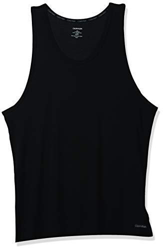 Calvin Klein Herren Ultra Soft Modal Tank Pyjama-Oberteil (Top), schwarz, Groß