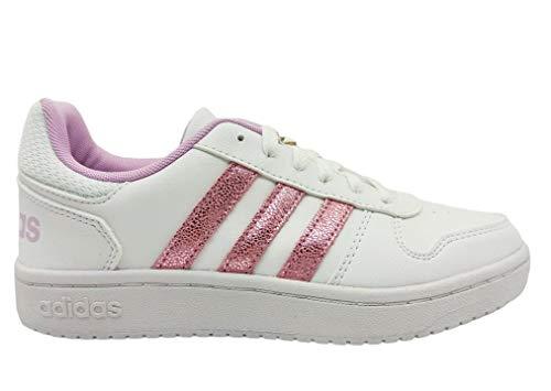 adidas Hoops 2.0 K, Zapatillas de Baloncesto, FTWBLA/LILCLA/Gridos, 40 EU