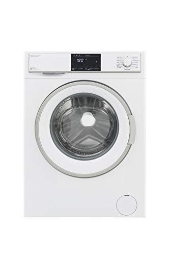 Sharp ES-HFB9143W3-DE Waschmaschine Frontlader/A+++ / 9 kg / 1400 UpM/Schontrommel / 15 Programme/AquaStop/Weiß