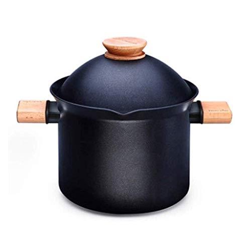 Cazo para sopa doméstica, cacerola Pot Ramen Pot Induction Herd Series Luxus con tapa