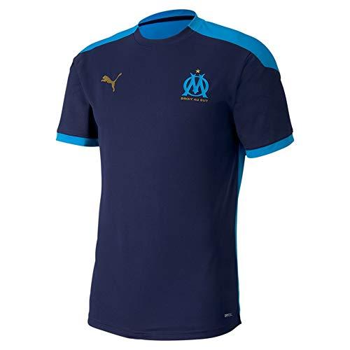 PUMA Om Training Jersey T-Shirt Homme, Bleu (Peacoat-bleu Azur), L