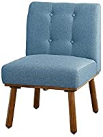 A to Z Furniture - Simple Living Playmate Armless Accent Chair in Blue Color