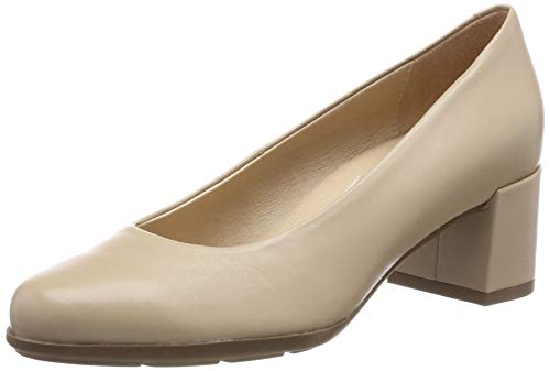 Geox D New ANNYA Mid A, Zapatos de Tacón Mujer, Beige (Lt Taupe C6738), 39 EU