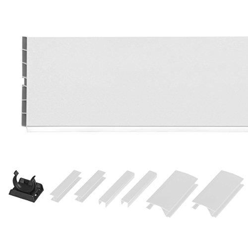 HOLZBRINK Système de socle HBK15 150 cm plinthe pour meubles de cuisine 150 mm brillance blanche