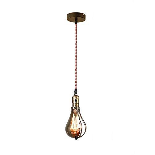 Creatieve mode industriële kroonluchter, retro nostalgie ijzer hanglampen bar café loft creatieve blokkering decoratieve lampen designer plafondlamp glazen lampenkap Edison E27 lamphouder, voor de rest