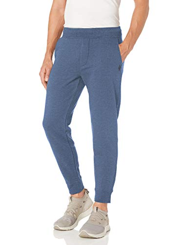 Skechers Men's Skech-Sweats Diamond Logo Jogger Sweatpant, Heather Blue Iris, S