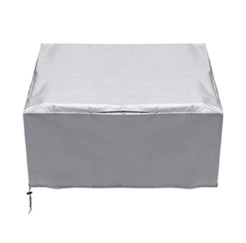 HS-XP Gartenmöbel Abdeckungen, Platz wasserdichte Patio Rattan Cube Schutzhülle 210D Oxford-Gewebe Outdoor Staub Möbel Cover - 90X90x40cm,Silber