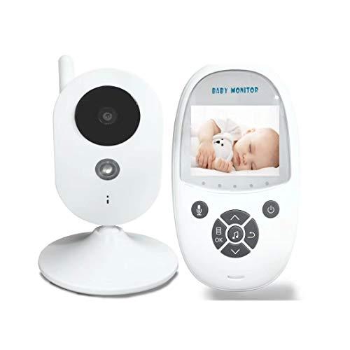 HJG Vidéo Baby Monitor avec Vision Infrarouge Appareil Photo numérique de Nuit, intérieur Filaire caméra de sécurité Accueil avec Transmission sans Fil,UK