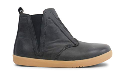 Bobux Kid+ Signet Boot_Experten für Wanderungen – ein Stiefel aus Leder mit flexibler Sohle., Schwarz - Schwarz Asche - Größe: 30 EU