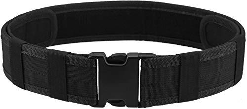 AGPtek Police Security Tactical Combat Gear Utility Nylon Belt (Black)