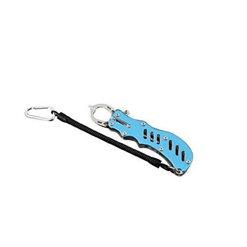 Pesce Lip Gripper Portatile Dei Pesci Grabber Acciaio Inossidabile Mini Pesce Easy Controller Catch Fishing Gear Strumenti Con Laccio Blu 1pc