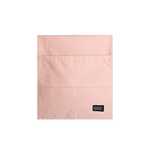 Estuches Bolsa Lápiz Escritorio Silla de escritorio de almacenamiento bolsa bolso colgante de bolsillo de múltiples libros de paño de Ordenamiento Caso lápiz bolsa Bolsa de Lápiz ( Color : Pink )
