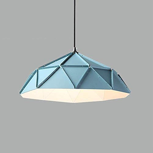 Adjustable Iron Art E27 Chandelier Modern Minimalist Creative Drop Light Romantic European Home Ceiling Pendant Lamp Living Room Decoration Pendant Lights Mediterranean Style Blue Hanging Lamp