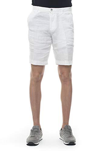 Pantal/ón corto de lino con cord/ón de corte holgado con tiro de 22,86 cm para hombre Marca 28 Palms