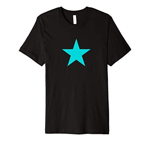 Dark Turquoise Star on Multiple Colors Premium T-Shirt