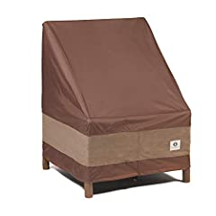 """PATIO COVERS: Fits patio chairs 32""""W x 37""""D x 36""""H Two-year limited warranty Waterproof fabric is ideal for high moisture climates Seam sealer tape applied during manufacturing process prevents water penetrating the cover at the seams UV stability ad..."""