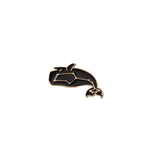 WBNCUAP Moda Dibujos Animados Broche Insignias de Pescado Astronauta Dolphin Shark Whale Origami Crane Esmalte Pines Denim Bag Marine Animal Joyería Mujeres (Metal Color : Dolphin)