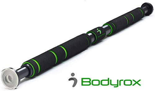 BODYROX Pull up/Chin up Bar | Premium Doorway Home Gym Fitness Bar with Extended Hand Grips | Indoor Wall Bar(Pull Up Bar)