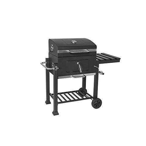 31EBedLm0XL - HIZLJJ Feuerstellen, Holzkohlegrill Grillen im Freien, Camping, Tailgating Charcoal Rack-Grill inklusive Faltbare Edelstahl-Grill-Tools Barbecue Grill Regal