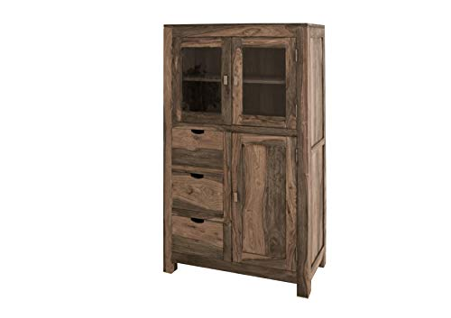 In palissandro massiccio Möbel pane armadio legno Sheesham massiccio Nature Grey #62