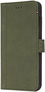 DECODED Wallet Case for iPhone 8 Plus / 7 Plus / 6s Plus / 6 Plus, Full-Grain Leather + Magnetic Closure + Impact Resistant Materials + 3 Card Storage - (Green)