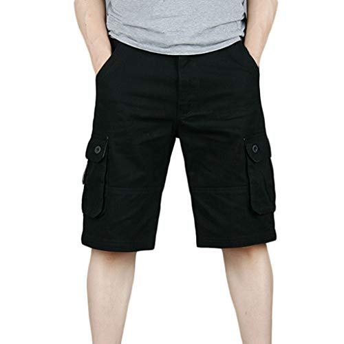 Herren neue Multi-Pocket-Tooling-Shorts,Herren Freizeit-Shorts Luca/Kurze Hose/Jogginghose/Sweatpants aus Sport Joggen und Training Shorts Fitness Kurze Hose Jogging Hose Bermuda Reißverschlusstasch