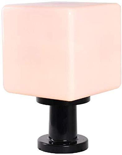 WZXCAP Acryl omheining Stigma Pedestal palen licht Europese outdoor waterdichte poort lamp moderne ruimte ijsblokjes lantaarn buitenshuis waterdicht tuinlicht deur zuil tuin licht verlichting binnenplaats