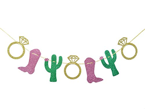 Cacti, Rings, and Cowboy Boots Garland, Bachelorette Party Garland, Final Fiesta Banner, Last Fiesta Banner, Final Rodeo Bachelorette Party Decorations
