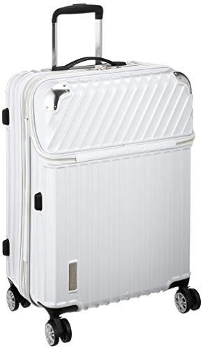 [トラベリスト] スーツケース ジッパー トップオープン モーメント 拡張機能付き 61L 64 cm 4.3kg ホワイトカーボン