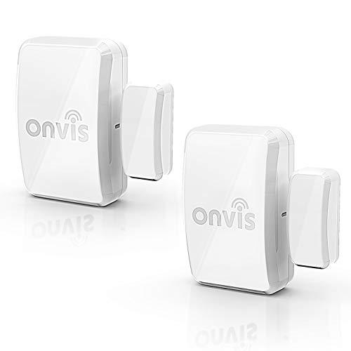 Onvis Tür Fenster Sensor Kabellos Smart Door Window Sensor, Niedrige Energie Bluetooth Kontakt Sensor mit Apple HomeKit, Automatische Benachrichtigungen, Keine Hub Erforderlich, Intelligentes Leben