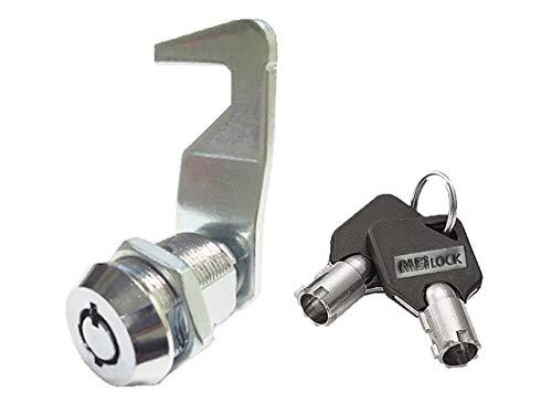 Homak Toolbox Lock Replacement Lock Tubular Cam Lock 2 Keys Per Lock 12-6 Key Pull (7/8')